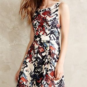 Anthropologie Maeve Capelle Watercolor Dress